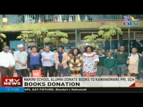 Makini School alumni donate books to Kawangware Primary School