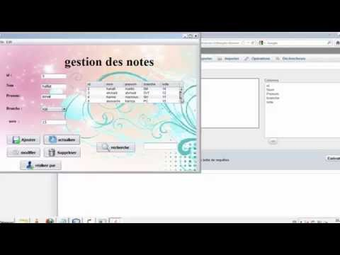 mini projet application gestion des etudients en JAVA+MYSQL