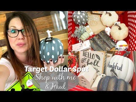 SHOP WITH ME & HAUL // TARGET DOLLAR SPOT// FALL & HALLOWEEN DECOR