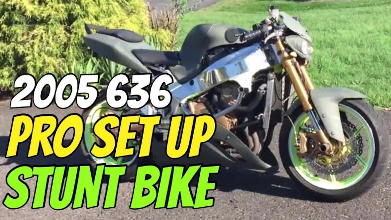 2005 Kawasaki Ninja 636 Pro Set Up Stunt Bike Street Legal For