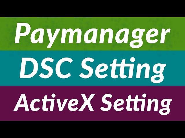 RajEmployee | Digital Signature | DSC Setting | Internet Explorer Setting | Paymanager | ActiveX