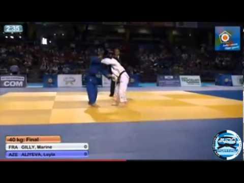 European Judo Championships Cadets Tallinn 2013 Final-40kg GILLY Marine (FRA) - ALIYEVA Leyla (AZE)