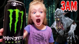 Do Not Drink Monster Energy Drinks at 3AM! *OMG* So Scary! Real Werewolf Chases Me!