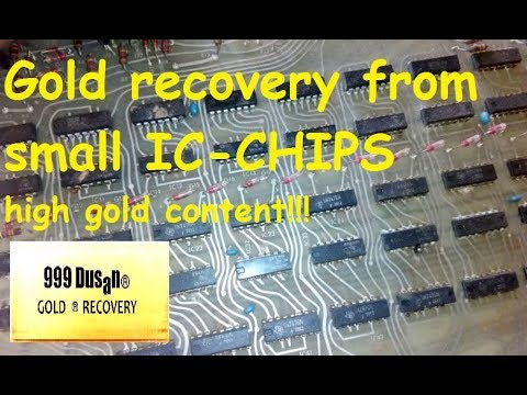 Ic-Chips With High Gold Content - Gold Recovery!