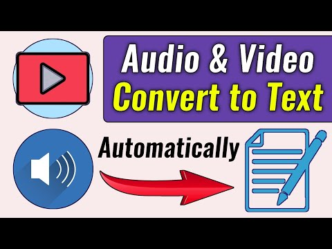 How to convert YouTube Videos to Text | How to Automatically YouTube Video to Text