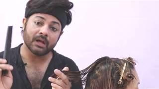 Inverted Graduated Bob Sam And Jas Haircut Tutorial in Hindi