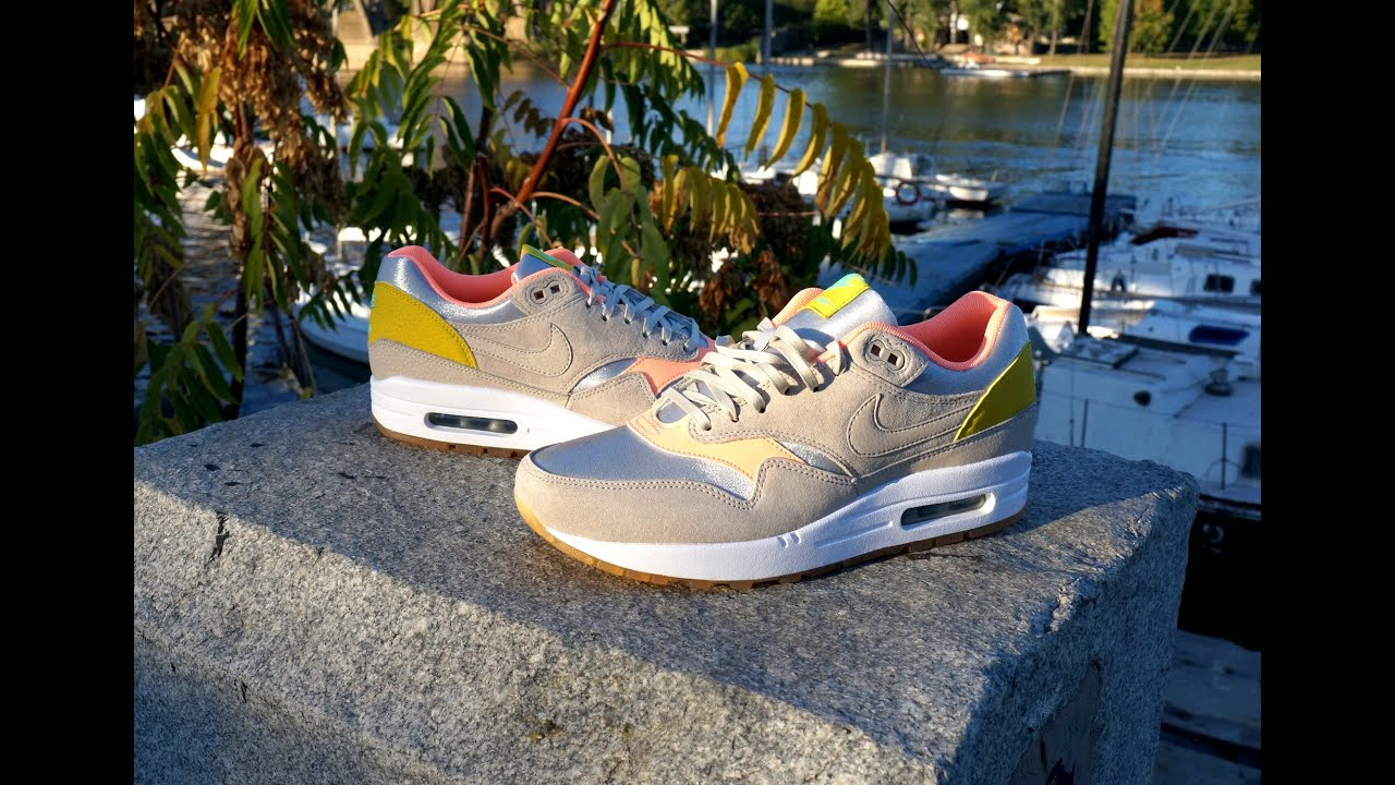 nike air max 1 metallic silver sunset glow youtube