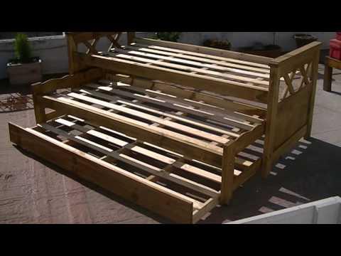 Oammuebles cama nido triple lustrado tipo campo petirib - Fabricar cama nido ...
