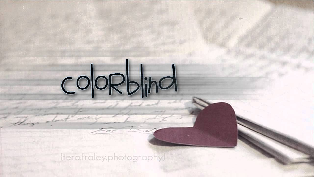 what does the song colorblind mean