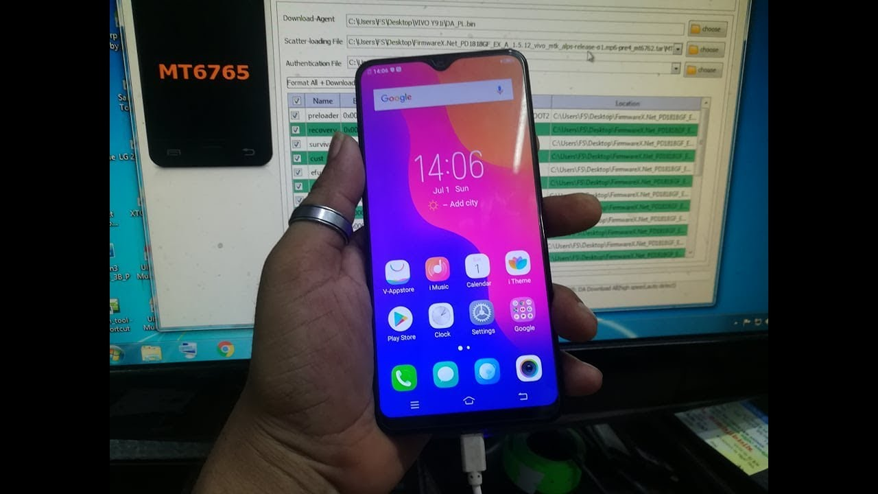 VIVO Y91i 1816 MT6765 Flash After Dead Recovery Done By SpTools