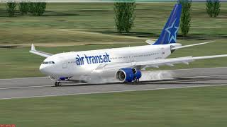 FSX CLS Air Transat A332 landing in Cancun flight No TS560