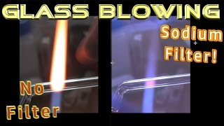Glass blowing.  Why do you need special glasses?