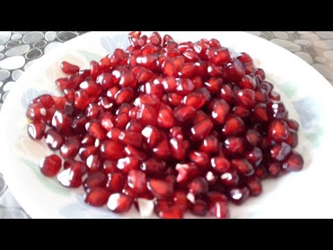 The Best and easy way to cut Pomegranate , Awesome tips , Pomegranate  cutting  trick and tips