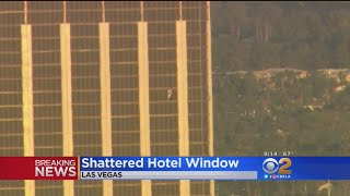 Shooter First Hammered 32nd Floor Window Before Opening Fire