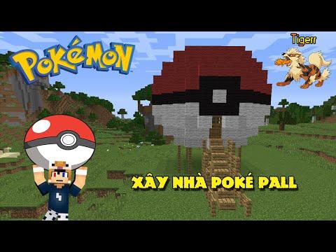 Minecraft Sinh tồn #6 : Xây nhà hình quả cầu Pokemon ( PokeBall ) - Survival #6