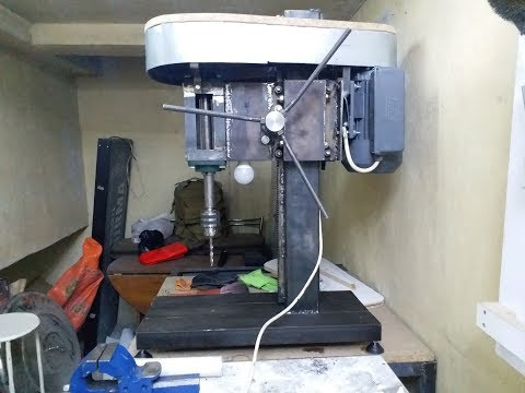 how to make a real drill press | matkap tezgahı yapımı