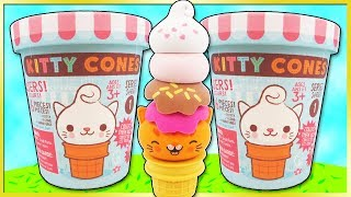 KITTY CONES 🍦😻 Series 1 BLIND BAG OPENING Eraser Surprise Toy Review | Trusty Toy Channel