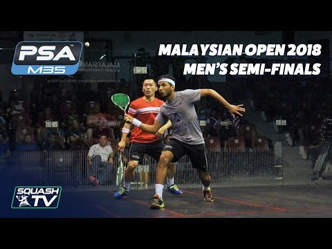 Squash: Malaysian Open 2018 - Men's Semi-Finals - Full Matches
