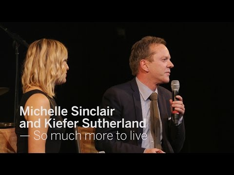 MICHELLE SINCLAIR AND KIEFER SUTHERLAND So much more to live | TIFF 2016