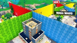 Смотреть клип WALL WARS Custom Gamemode in Fortnite Battle Royale онлайн
