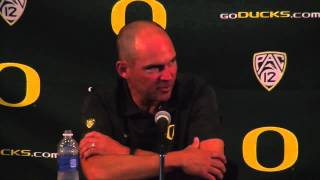 Oregon Ducks coach Mark Helfrich on QBs, timetables