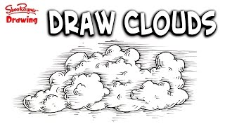 How to draw clouds - Easy Step-by-Step for Beginners