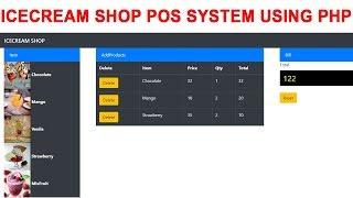 Icecream shop pos system using php