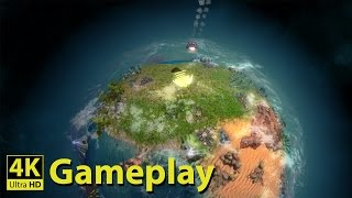 Imagine Earth - 4K GAMEPLAY [Interesting God/Space Colonization Strategy Game]