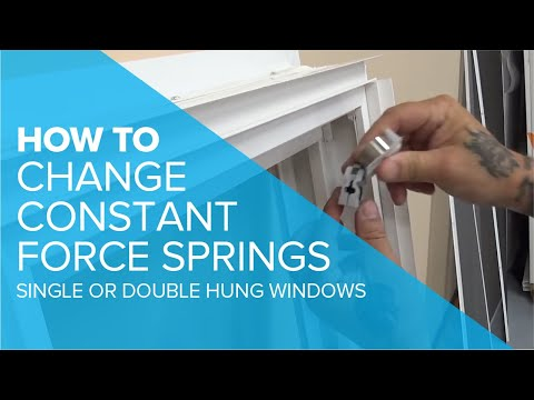 Changing a Constant Force Spring in a Single or Double Hung Window