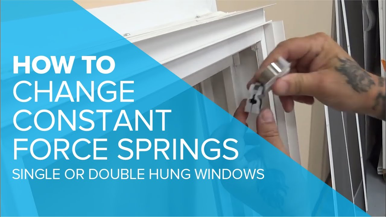 Double Hung Window Spring Replacement : Changing a constant force spring in single or double