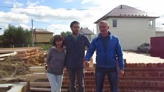 Начало строительство брусового дома в деревне Павловское Московской области