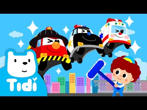 Car Wash Song ♪ | Car Songs Splish Splash  | Vehicle Songs | Tidi Songs For Children★TidiKids