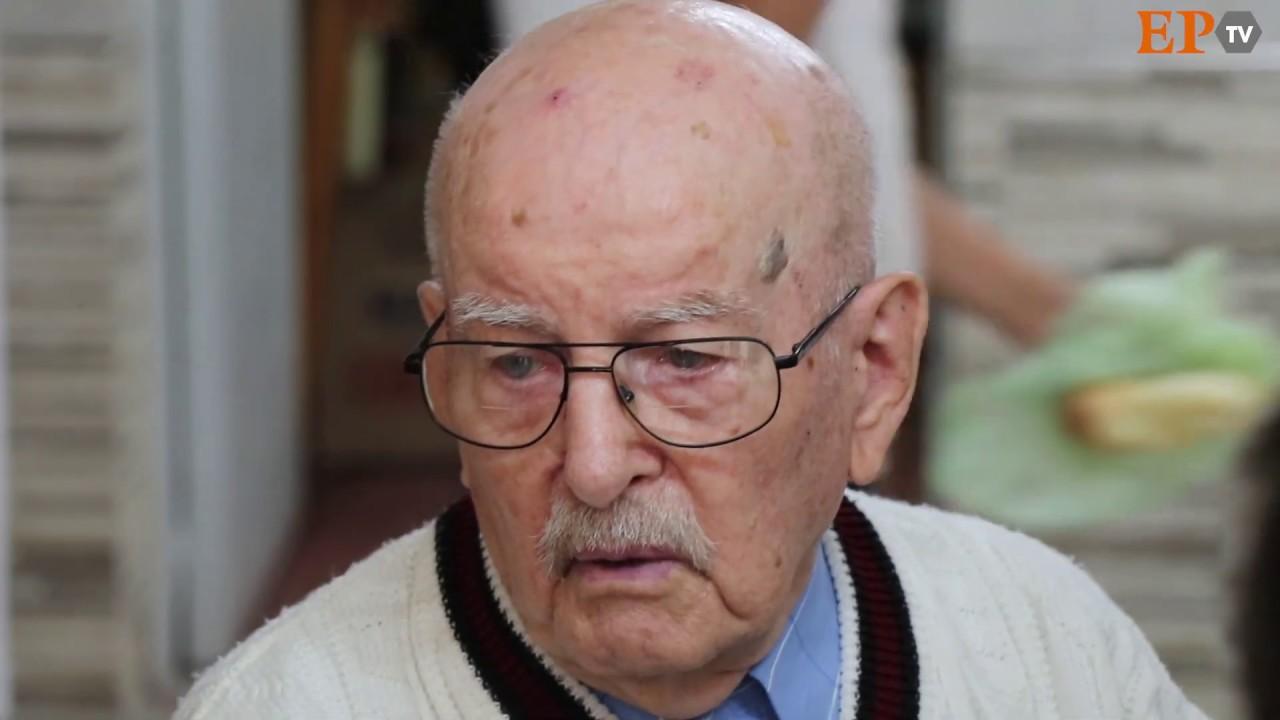 Emilio Pons, con 102 años volvió a su escuela primaria