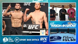 Open Mat LIVE: UFC 254: Khabib v Gaethje weigh-ins