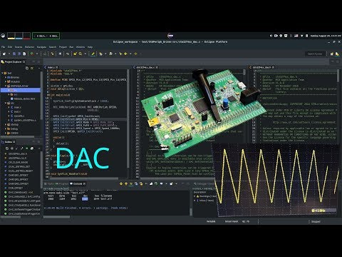 making waveforms with dac | tutorial on stm32