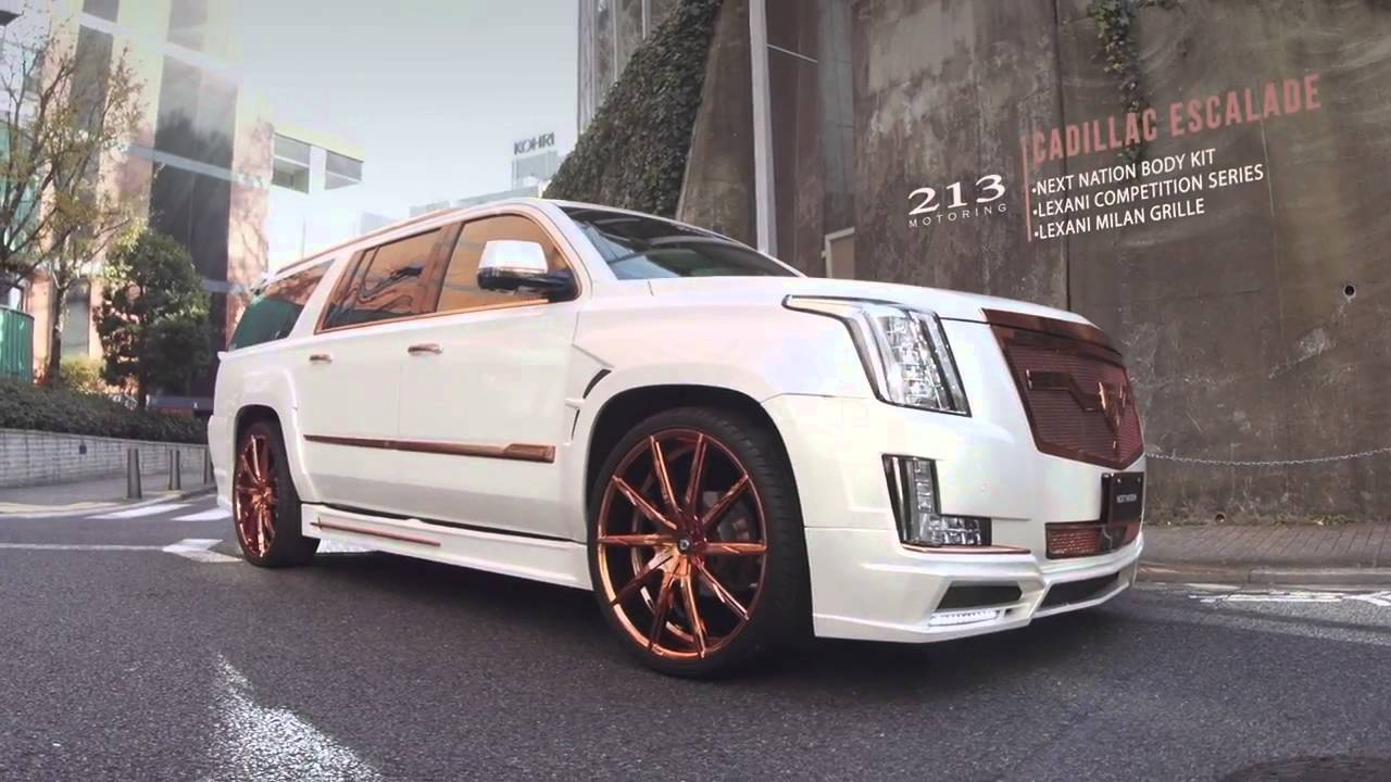 CALWING Cadillac Escalades on 26 Lexani Wheels Japan Tour ...