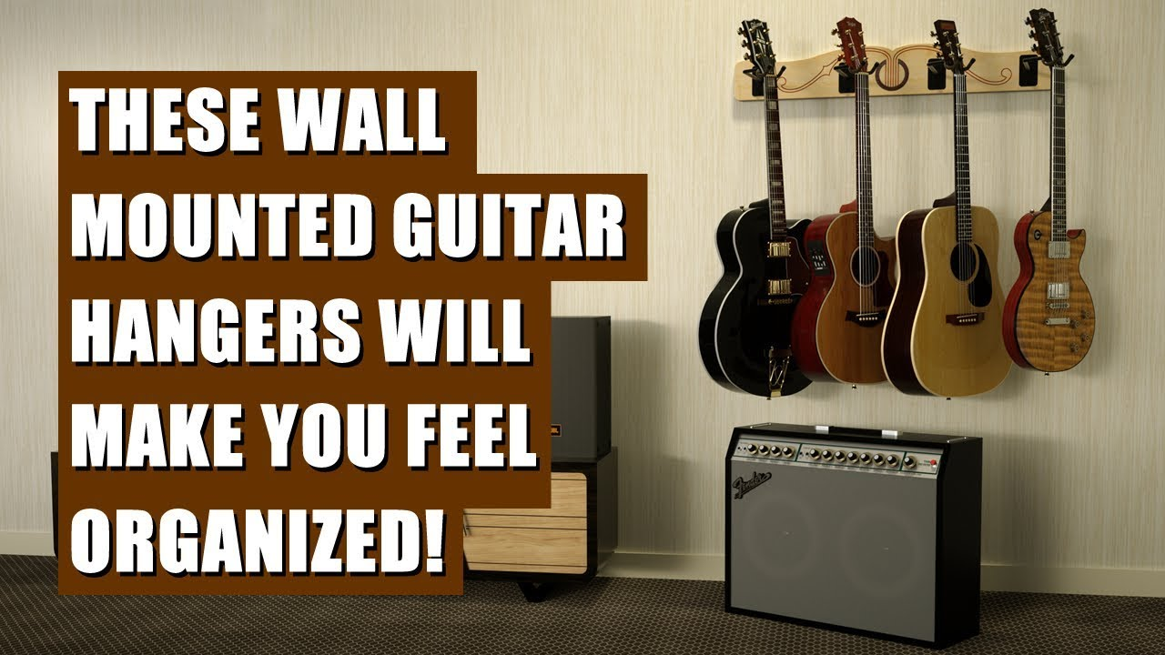 the pro file wall mounted multi guitar hanger