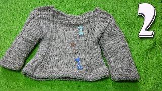 Кофточка на 1 годик ребенку Часть 2. Вязание спицами