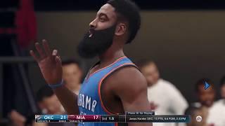 NBA Live 18 Thunder vs Heat Gameplay