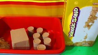 Кинетический песок видео обзор распаковки. Песочницы для кинетического песка. Видео для детей.