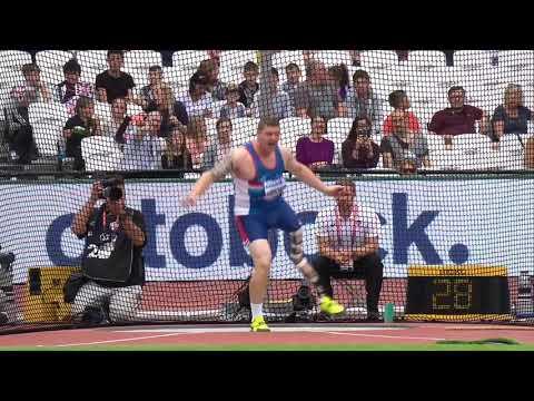 Tom Habscheid   Silver Men's Discus F42   Final   London 2017 World Para Athletics Championships