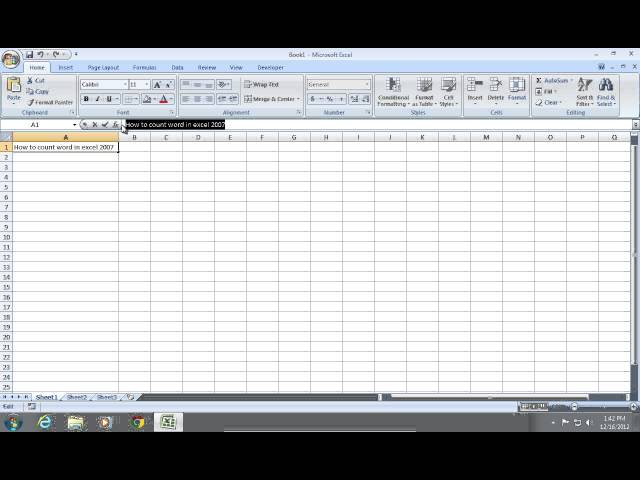 how to find mean on excel 2007