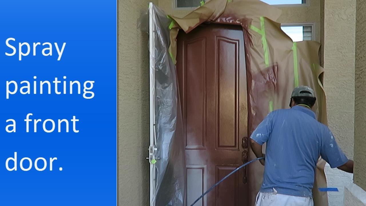 How to spray paint the exterior of a front door    YouTube. Painting New Steel Entry Doors. Home Design Ideas