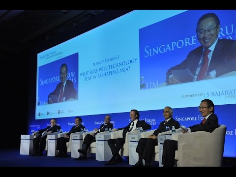 Singapore Forum 2015 Plenary Session 3: What Role will Technology Play in Reshaping Asia?