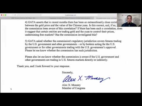 Congressman Asks CFTC Why It Missed Gold and Silver Manipulation