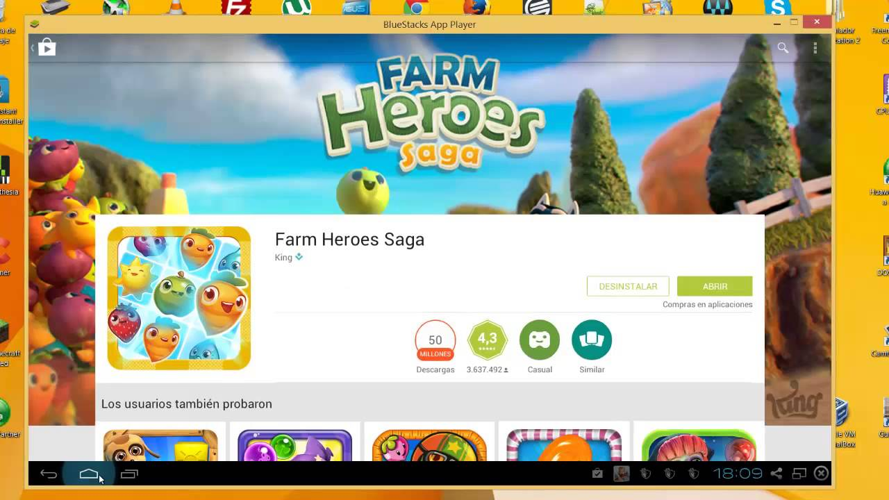 Descargar Farm Heroes Saga Para Pc Youtube