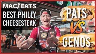 MAC EATS: PHILLY CHEESE STEAKS PAT'S VS GENOS