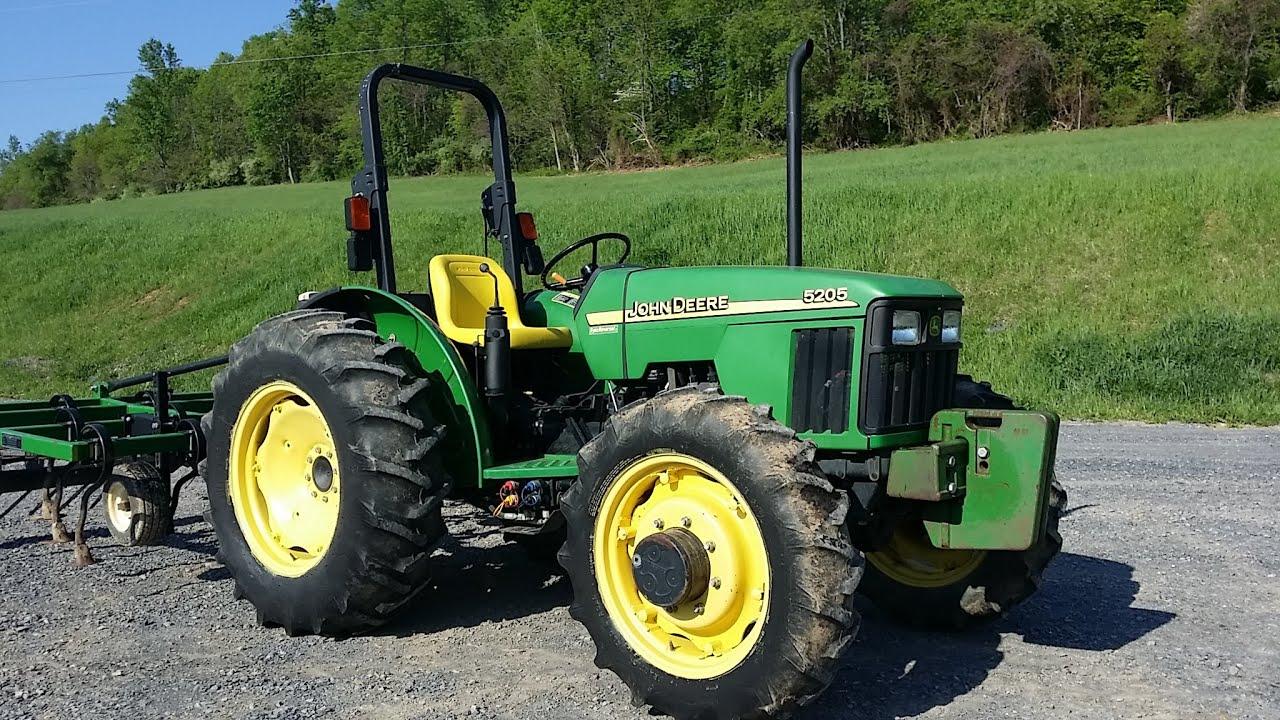 john deere 5205 4x4 diesel tractor  [ 1280 x 720 Pixel ]