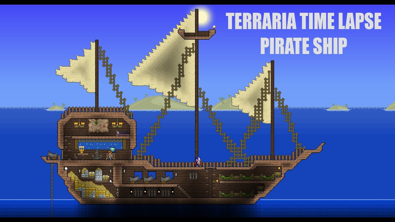 Bedroom Door Ideas Terraria Time Lapse Pirate Ship Youtube