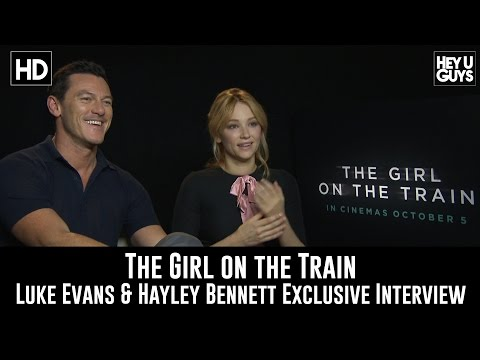 Luke Evans & Haley Bennett Exclusive Interview - The Girl on the Train